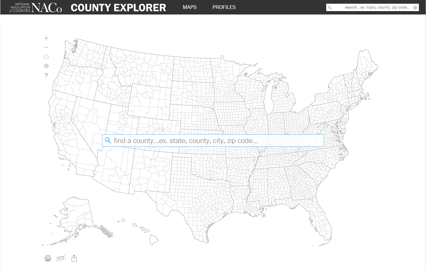 NACo County Explorer - Smoking rates us map